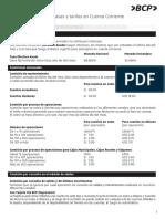 Cartilla informativa de tasas y tarifas en Cuenta Corriente_solo persona juridica del bcp.pdf