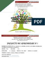 Proyecto 1 4 to Grado Año Escolar 2016- 2017