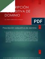Prescripción Adquisita de Dominio Peru