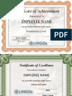 CC Marketing Certificate Template