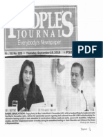 Peoples Journal, Sept. 19, 2019, Basic Education, Tingog Partulist Rep. Yedda Marie Romualdez with her husband Majority Leader and Leyte Rep. Martin Ronualdez.pdf