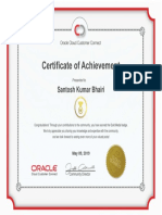 Certificate of Achievement Oracle