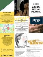 TRIPTICO Abuso Sexual Infantil