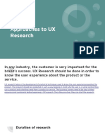 Different Approaches to UX Research