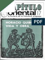 Capitulo Oriental 17 Horacio Quiroga Vida y Obra