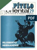 Capitulo Oriental 29 Felisberto Hernandez