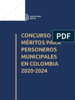 Cartilla 023 Concurso de Meritos Para Personeros Municipales en Colombia 2020 2024
