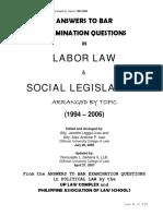 Bar - Labor Law