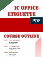 Basic Office Etiquette