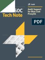 Audit Support for Blue Coat ProxySG