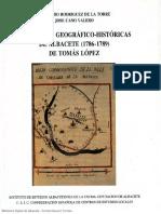 RELACIONES Geográfico-históricas de Albacete (1786-1789), de Tomás López