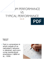 Maximum Performance vs Typical Performance