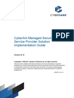 CyberArk Managed Security Service Provider Solution Implementation Guide