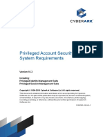 CyberArk Privileged Account Security System Requirements