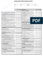 Minimu Safety & Environment Checklist