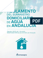 Reglamento Suministro Domiciliario de Agua