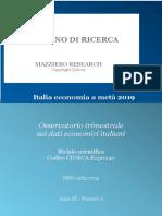 Italia economia a metà 2019