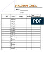 LIST OF BDC