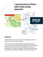 Dataset on Assessment of River Yamuna, Delhi, India Using Indexing Approach