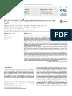 Receptive Speech in Early Implanted Ch 2016 European Annals of Otorhinolaryn