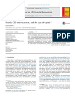 Boards CEO Entrenchment and the Cost of CA 2013 Journal of Financial Econo