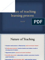 Nature of Teaching Learning Process