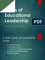 Styles of Educational Leadership
