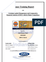 Working Capital Management & Comparative Financial Analysis of Indian Oil With Its Major Competitors