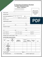 Placement Registration Form 2020