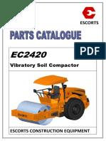 Escorts EC2420 Parts Catalog