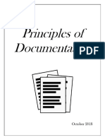 Principles of Documentation Oct 2018