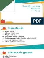 Presentacion Reunion Primer Trimestre 11-09-19