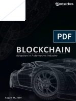 Blockchain - Adoption in Automotive Industry
