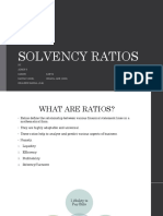 Solvency Ratios Final
