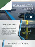 TIDAL AND HYDEL ENERGY- by MAHIMA