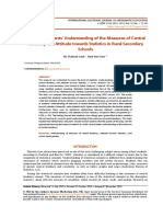 Assessing Students Understanding of the Measures of Central Tendency and At