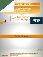 Encuesta Concejo y JAL de Cartagena y Asamblea de Bolívar