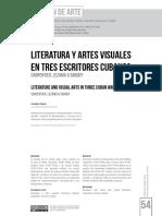 Literatura y artes visuales en tres escritores cubanos