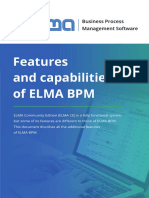 Features and Capabilities of ELMA BPM