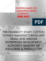 Presentation Made on Towel Manufacturing Company