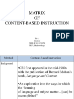Ppt Matrix Cbi