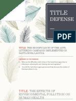 Title Defense