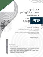 La Práctica Pedagógica Como Herramienta Para Historiar La Pedagogía en Colombia