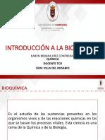 Clase i. Introducción Bioquímica