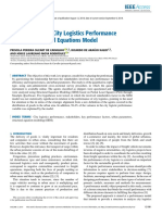 Evaluation of the City Logistics Performance Through Structural Equations Model