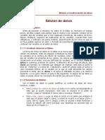 Edición de Datos