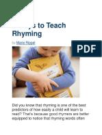 teach rhyme