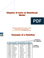 Intro To Relational Model