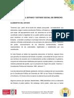 Elementos Del Estado y Estado Social de Derecho(1)