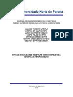 Portfólio Em Grupo 7º Semestre - LUTAS E MODALIDADES COLETIVAS COMO CONTEÚDO DA EDUCAÇÃO FÍSICA ESCOLAR